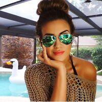 Classy Green Aviator Sunglasses Vintage Eyewear Mirror Lens Men Women Glasses