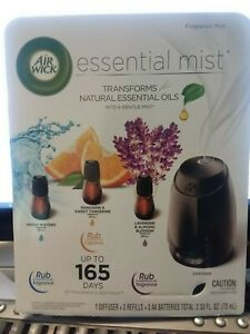 AirWick Essential Mist Diffuser and 3 refill kit NIP
