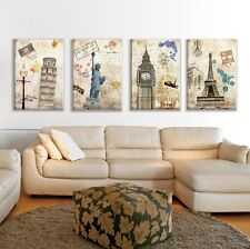 Modern Abstract Oil Painting Wall Decor Art Huge - World-renowned architecture