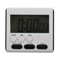 LCD Digital Kurzzeitmesser Küchenuhr Kurzzeitwecker Eieruhr Timer Kochen  h A5L0