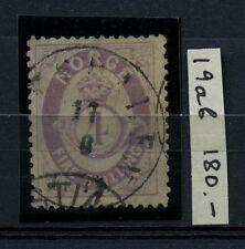 NORWAY 1872 Facit 19ab Used VF Signed CV$180.00