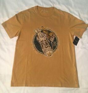 NWT Men's Luck Brand B-17 Bones, Bombs & Skeleton T-Shirt, Med or Lg MSRP $49.50