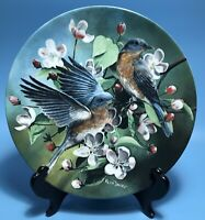 """""""The Bluebird"""" BIRDS OF YOUR GARDEN COLLECTION by Kevin Daniel Knowles Plate"""