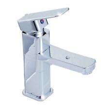 Modern Style Basin Mixer Tap Single Lever Chrome Bathroom Sink Faucet ED