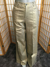 ADEC 2 Metallic Gold Linen Casual Pants Womens Size 4 / 38
