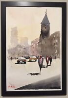 "Watercolor Painting Portugal ORIGINAL ""LISBON"" 12x18 by John Harrison"