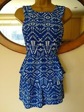 Boohoo Royal Blue Size 10 Playsuit
