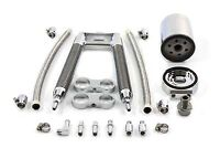Dual Tube Vertical Style Oil Cooler Kit,for Harley Davidson,by V-Twin