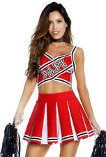 Forplay adult red mini skirt cheerleader costume