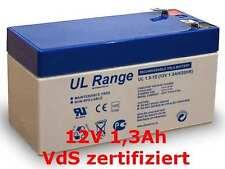 Akku Batterie FG20121 MP1.2-12V 1,3Ah 12 V 1,2 Ah 1,3 Ah VdS zertifiziert 12Volt