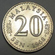 Malaysia 20 sen 1968 AUNC
