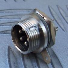 5 Pin conector de chasis de contacto múltiples múltiples clavijas MacHo Con Tuerca. HAM CB Micrófono posterior etc.
