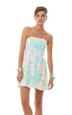 248.00 NWT LILLY PULITZER 10 LOTTIE DRESS RESORT WHITE SALISBURY LACE