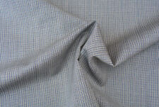 E155  MID GREY MICRO CHECK WEAVE DELUXE EXTRA FINE 150's PURE WOOL MADE IN ITALY
