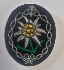GERMAN ARMY WAFFEN EDELWEISS OFFICERS SLEEVE ARM BADGE