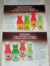 1975 advertising -advert for Earth Born hair PH balance shampoo Vintage PRINT AD