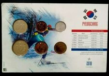 SOUTH KOREA 1983-2013 SIX MINT UNC DIFFERENT COINS ISSUED 2018