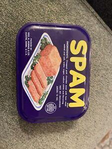 "Spam Metal Tin Box 4"" x 3"" x 1.5"" Decoration Travel"