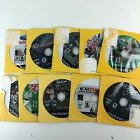 PS2 Lot of 10 Video Games Untested No Cases HG25-2