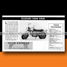 ★ SUZUKI  RV 125 VAN VAN (VANVAN) ★ 1976 Essai Mini Bike Original Road Test #c56