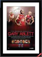 GOLD COAST SUNS GARY ABLETT JNR HAND SIGNED FRAMED AFL BROWNLOW MEDALLIST PRINT