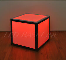 """16"""" LED CUBE END TABLE COLOR CHANGING MODERN"""