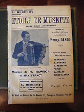 Partition Etoile de Musette Valse Henry Dando Accordéon