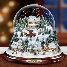 THOMAS KINKADE  Victorian Village Snowglobe LIGHTED MUSICAL NEW