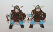 1980's LJN AD&D Dungeons & Dragons Worn Dwarf PVC Lot