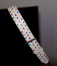 Absolutely Fresh Colored Hearts Belt, Multi-color hearts/white background-L 42""