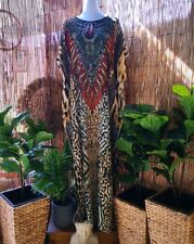 Plus Size Mix Maxi Very Long Sheer Embellished Kaftan Size 16-18-20 OSFA