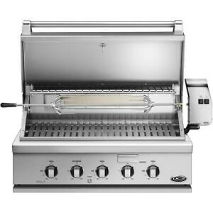 "DCS 36"" Series 7 Grill & Rotisserie - NG   BH1-36R-N   Stainless Steel 3-Burner"