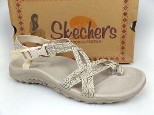 Skechers Reggae Happy Rainbow Sandals, Natural Tan Women's, SZ 8.0 M,  16815