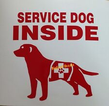Service Dog Inside Decal Police Sheriff DogTeam PTSD Animal Car Truck Sticker