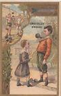 Forain Foire Force Poids Éducation ENFANTS ENFANTINA 1900s IMAGE CARD CHROMO b