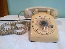 Vintage Bell Systems Western Electric Model 500 Rotary Telephone Off-White 1970s