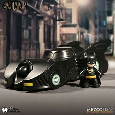 MEZCO TOYZ MINI MEZ-ITZ 1989 BATMAN WITH BATMOBILE ACTION FIGURE SET NEW IN HAND