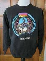 VTG 1990 END OF TRAIL BLACK HILLS SD NATIVE AMERICAN MEN XL BLACK SWEATSHIRT USA