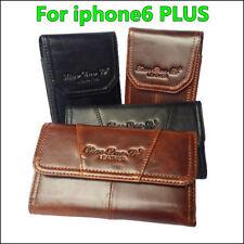 Estuche De Cuero Genuino Clip de Cinturón Pistolera Estuche Funda Cubierta para iPhone 6 XS 11 Plus