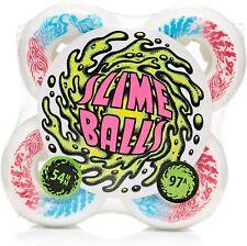 Santa Cruz Slime Balls Vomit Mini 97a Skateboard Wheels - Black 54mm
