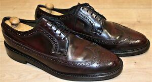 Chaussures Derby FLORSHEIM bout fleuri tout cuir bordeaux 10E US 9,5 UK 44 FR