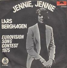 "LARS BERGHAGEN JENNIE JENNIE EUROVISION 1975 RECORD YUGOSLAVIA 7"" PS"