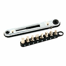 "New 9pcs 1/4"" Drive Mini Rachet & Bits Set Philips Slot Hex Bits Set SM-RBS9"