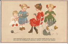 1. Weltkrieg, Patriotika, Kinder stricken, Meissner & Buch, signiert Lia Döring