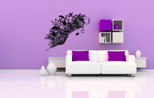 Wall Decal Sticker Bedroom Decor Feather Flowers Bedroom Beautiful Art bo2521