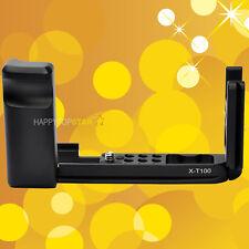 For Fujifilm Fuji X-T100 XT100 Quick Release QR L Plate Bracket with Hand Grip