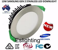 6 SET 13W SAMSUNG FROSTED STAINLESS DIMMABLE LED DOWNLIGHT DOWNLIGHTS COOL WHITE