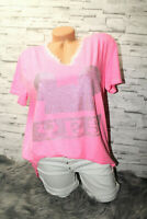 Italy New Collection Mickey Mouse T-Shirt pink Gr. 36 38 40 42 blogger Strass