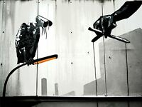 ART PRINT PHOTO GRAFFITI STREET BANKSY VULTURE CCTV WATCHING PUPPETS NOFL0383