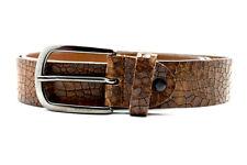 Bernd Gotz Mens Leather Belt Brown Size 36